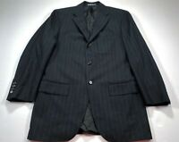Polo Ralph Lauren 39R Wool Cashmere Black Pinstripe Blazer Sport Coat Jacket