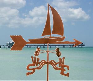 Sailboat Weathervane - Nautical Sailing Weather Vane Complete w/ Choice of Mount