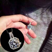 Elegant Women Crystal Choker Necklace Pendant Jewelry Chunky Statement Wedding