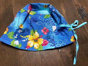 NWT new Children Place Blue Reversible HIBISCUS BUCKET HAT Toddler Girl 2T 3T 4T