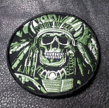 DEATH SKULL INDIAN CHIEF SKULL TACTICAL COMBAT 3.5 INCH ACU HOOK LOOP PATCH
