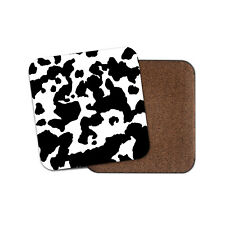 Awesome Cow Print Pattern Coaster - Animals Pet Mum Auntie Gran Cool Gift #16484