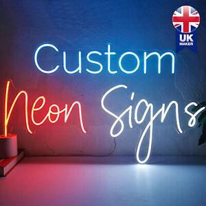 Personalise Custom Neon Signs Lights Home Decor Salon Office Logo Wedding Event