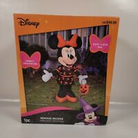 Halloween Disney 3.5 ft Minnie Mouse w/Pumpkin Lighted Yard Airblown Inflatable