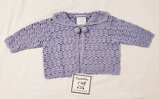 Crocheted Cornelloki Blue 3-6 Month Sweater / Cardigan NWT... CUTE!
