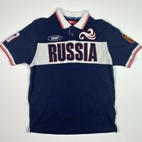 Bosco Polo Navy Bluer Men's Polo Shirt 2012 Russian Olympic Team Bosco Large