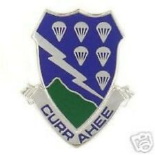 ARMY CURRAHEE  506TH INFANTRY REGIMENT CREST PIN