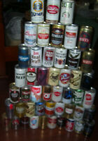 Beer Can Collection~48 Vintage Beer Can Lot~Bottom Opened~Aluminum~Mancave