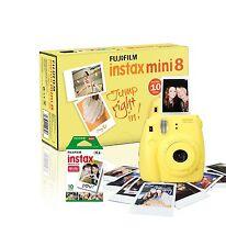 Fuji Instax Mini 8 Instantanée Camera with 10 Photos Inclus Jaune