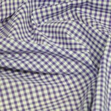 """Polycotton Fabric 1/8"""" Gingham Check Material Dress Craft Uniform Checked"""