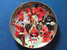 Danbury Mint Plate - Liverpool - Treble Winners 2001 - 22 Carat Gold Rim
