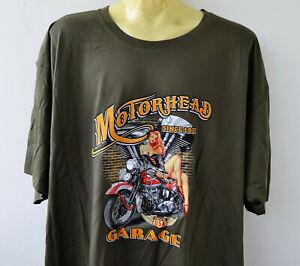 Vintage Knucklehead Biker Pin Up T-Shirt S-5XL Übergrösse Plus Size Harley