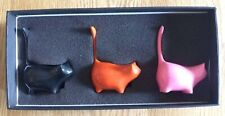 More details for artforum set of 3 boxed martha cats by perry lancaster