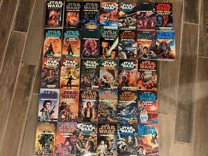 Lot de 32 livres Star Wars (Nouvel ordre Jedi, les X-Wing, Yuuzhan Vong ...)