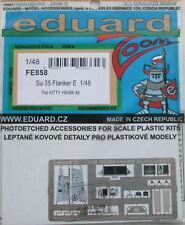 Eduard Zoom FE858 en color de grabado de 1/48 para el Kit de Kitty Hawk Su-35 accionariado E