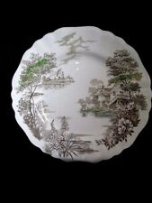 """English Staffordshire Olde Avon Dale 10"""" Diner Plate  J & G Meakin England"""
