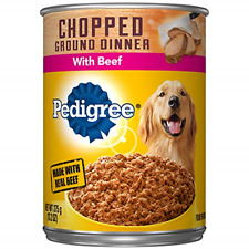 PEDIGREE Adult Canned Wet Dog Food Chopped Ground Dinner with Beef, 8 13.2 oz.