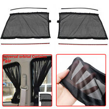 2x Universal Car Front Side Window Curtains Sun Shade UV Protection Accessories