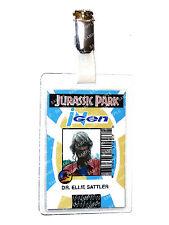 Jurassic Park ID Badge Ingen Dr Ellie Sattler Dinosaur Cosplay Costume Comic Con