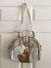 Vintage Beige crossbody shoulder bag patchwork Multi leather Frame