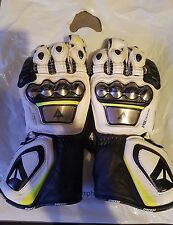Dainese Full Metal D1 Leather Motorcycle Motorbike Race Gloves Yellow Black