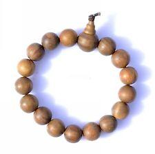 AU 15mm Diameter Sandalwood Wooden Bead Buddhist Brown Stretchy Bracelet Bangle