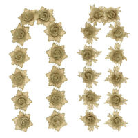 3D Flower Ribbon Beads Lace Trim Wedding Dress Decor DIY Sewing Accessories