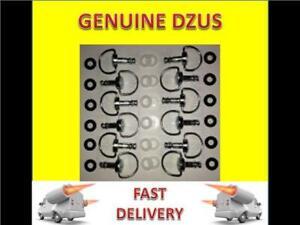 12 x Dzus Fasteners / Quarter Turn 21mm D ring anti scratch,retaining washers