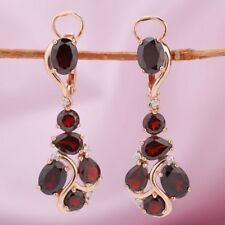 Rotgold Ohrringe mit Rhodolith Granate russisches Rose Gold 585