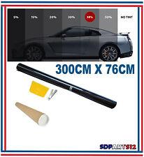 Film solaire de qualite 3m x 76cm, teinté 35% VLT couleur Noir auto,batiment