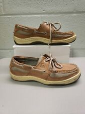 SPERRY TOP SIDERS  mens SIZE 7.5 M  BOAT SHOES BEIGE