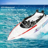 2.4G Kids Children Water Toy 4CH Waterproof Electric RC Racing Speedboat Boat #