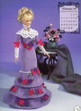 Miss February 1996 Edwardian Lady Outfit For Barbie Doll Annie's Crochet Pattern