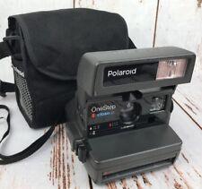 Vtg Polaroid One Step Closeup Instant Camera 600 Film Bag Black Tested Working