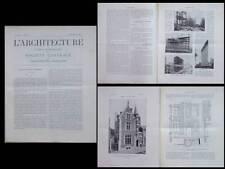 L'ARCHITECTURE N°13 1906 - ALBERT (SOMME), MIGNAN, FLATIRON BUILDING, NEW YORK