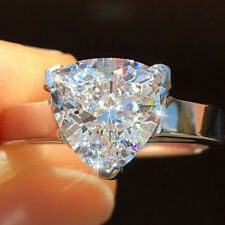 Fancy Trillion Next White 2.75 Ct Moissanite 925 Sterling Silver Engagement Ring