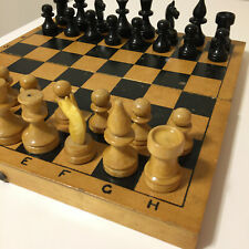 Ussr Wooden Chess Vintage Soviet Set Russian Full Tournament Antique Old Rare