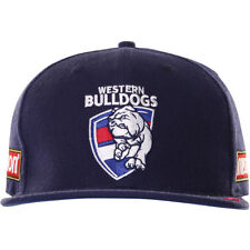 Western Bulldogs AFL BLK Official Players On Field Flat Peak Cap! BNWT's! 6