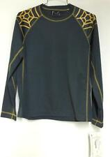 Spyder Kids Boys Bode Miller Jersey Baselayer Shirt Gray Gold Large NEW