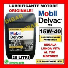 LUBRIFICANTE MOTORE ORIGINALE MOBIL DELVAC MX 15W40 ACEA A2/B2/E7 DA 20 LITRI