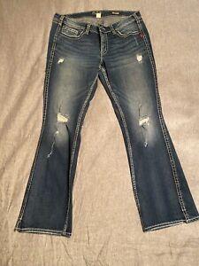 Silver Jeans Twisted Bootcut SZ18/L33 EUC