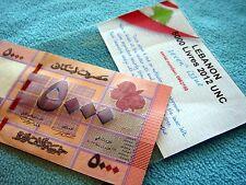 5000 LL Lebanon Bank note 2012 - 2013  LIBAN