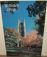 WELLESLEY COLLEGE MASSACHUSETTS LARGE COLOR POSTER