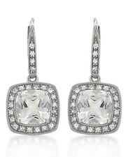 Amazing Earrings 6.13ctw Sapphires and Topazes 14K Solid White Gold $3,020.00