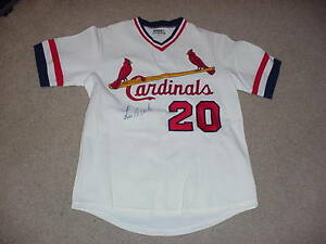 Lou Brock Signed Game Jersey St. Louis Cardinals HOF