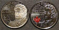 UNC Canada 2013 de Salaberry  25 cent quarter red color & no color 2 coins set