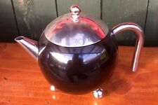 Black 'Painted Ladies' Teapots