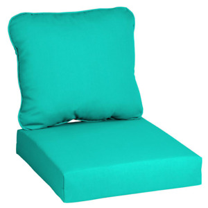 Hampton Bay Deep Seat Chair Cushion Spill/Stain Resistant Polyester (2-Piece)