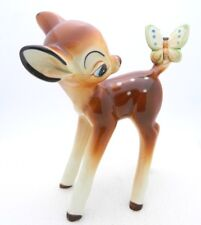 VTG Disney Bambi or Faline Deer Figurine Walt Disney Production Japan Ceramic
