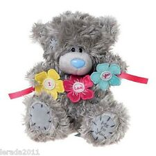 """VALENTINES DAY I LOVE YOU 8"""" PLUSH BEAR FLOWER BUNTING ME TO YOU TATTY TEDDY"""